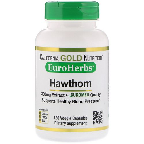 California Gold Nutrition, Hawthorn Extract, EuroHerbs, European Quality, 300 mg, 180 Veggie Capsules Review