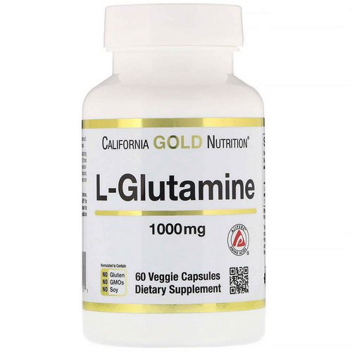 California Gold Nutrition, SPORT L-Glutamine, 1000 mg, 60 Veggie Caps Review