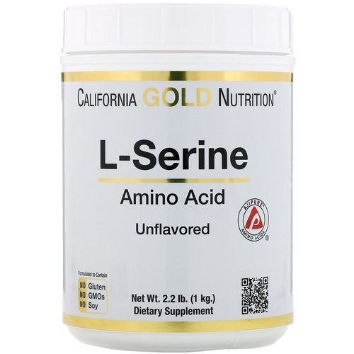 California Gold Nutrition, L-Serine, AjiPure, Unflavored Powder, 2.2 lb (1 kg) Review