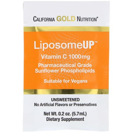 California Gold Nutrition CGN, Liposomal Vitamin C, Cold, Cough, Flu