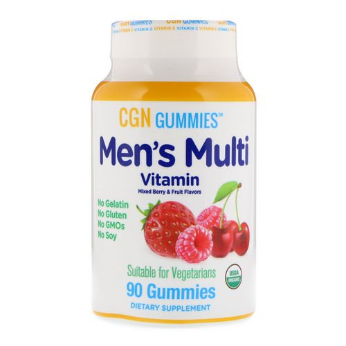 California Gold Nutrition, Men's Multi Vitamin Gummies, No Gelatin, No Gluten, Organic Mixed Berry and Fruit Flavor, 90 Gummies Review