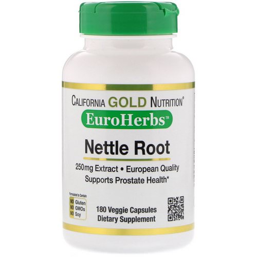 California Gold Nutrition, Nettle Root Extract, EuroHerbs, 250 mg, 180 Veggie Capsules Review