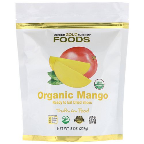 California Gold Nutrition, Organic Mango, Ready to Eat Dried Slices, 8 oz (227 g) Review