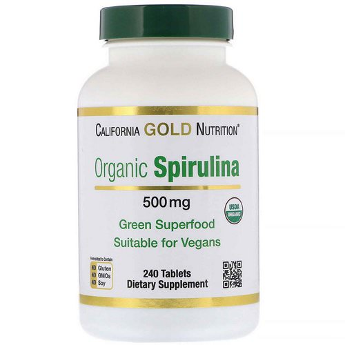 California Gold Nutrition, Organic Spirulina, 500 mg, 240 Tablets Review