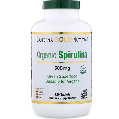 California Gold Nutrition, Organic Spirulina, USDA Certified, 500 mg, 720 Tablets Review
