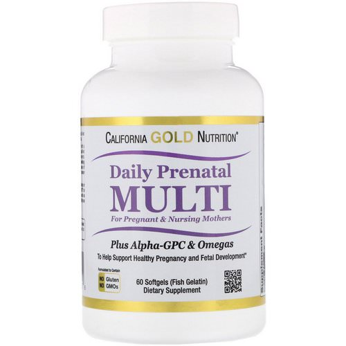 California Gold Nutrition, Prenatal Multi for Pregnant & Nursing Mothers, 60 Fish Gelatin Softgels Review