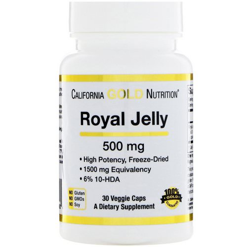 California Gold Nutrition, Royal Jelly, Concentrated & Freeze Dried, 500 mg, 30 Veggie Caps Review