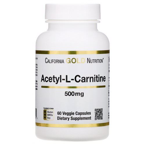 California Gold Nutrition, Acetyl-L-Carnitine, 500 mg, 60 Veggie Capsules Review