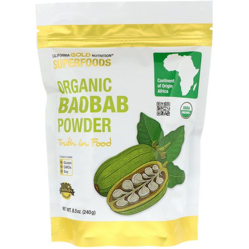 California Gold Nutrition, Superfoods, Organic Baobab Powder, 8.5 oz (240 g) Review