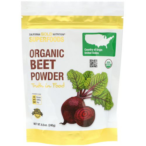 California Gold Nutrition, Superfoods, Organic Beet Powder, 8.5 oz (240 g) Review