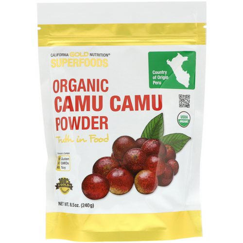 California Gold Nutrition, Superfoods, Organic Camu Camu Powder, 8.5 oz (240 g) Review