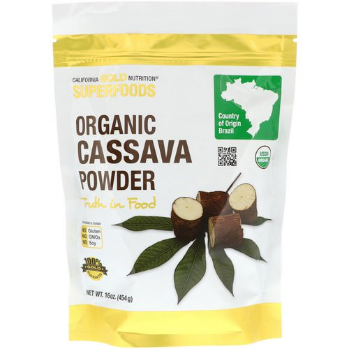 California Gold Nutrition, Superfoods, Organic Cassava Powder, 16 oz (454 g) Review