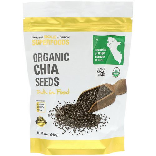 California Gold Nutrition, Superfoods, Organic Chia Seeds, 12 oz (340 g) Review
