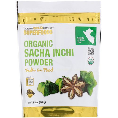 California Gold Nutrition, Superfoods, Organic Sacha Inchi Powder, 8.5 oz (240 g) Review