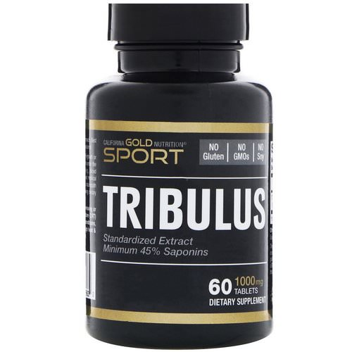 California Gold Nutrition, Tribulus, Standardized Extract, Minimum 45% Saponins, 1,000 mg, 60 Tablets Review