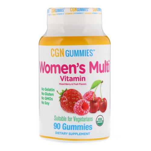 California Gold Nutrition, Women's Multi Vitamin Gummies, No Gelatin, No Gluten, Organic Mixed Berry and Fruit Flavor, 90 Gummies Review