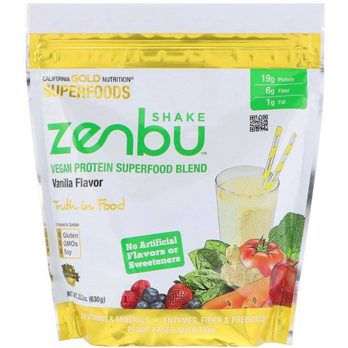 California Gold Nutrition, Zenbu Shake, Vegan Protein Superfood Blend, Vanilla Flavor, 1.4 lbs (630 g) Review