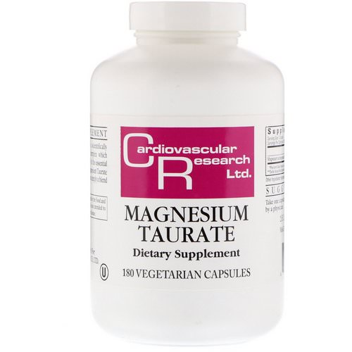 Cardiovascular Research, Magnesium Taurate, 180 Vegetarian Capsules Review