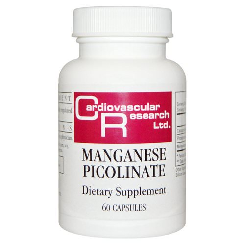 Cardiovascular Research, Manganese Picolinate, 60 Capsules Review