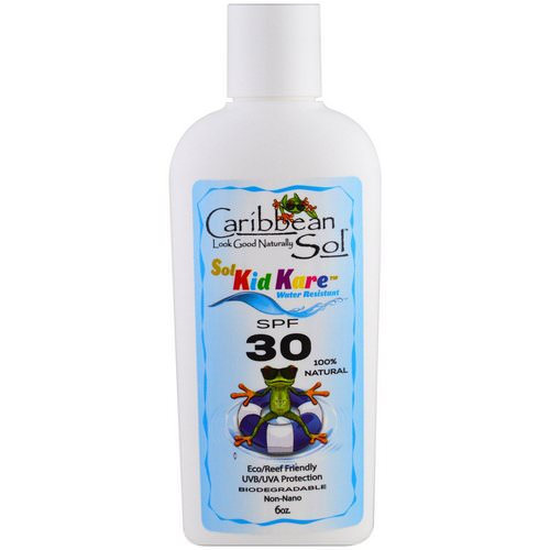 Caribbean Solutions, Sol Kid Kare, SPF 30, Water Resistant, 6 oz Review