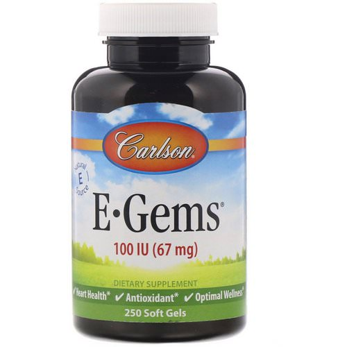 Carlson Labs, E-Gems, 100 IU (67 mg), 250 Softgels Review