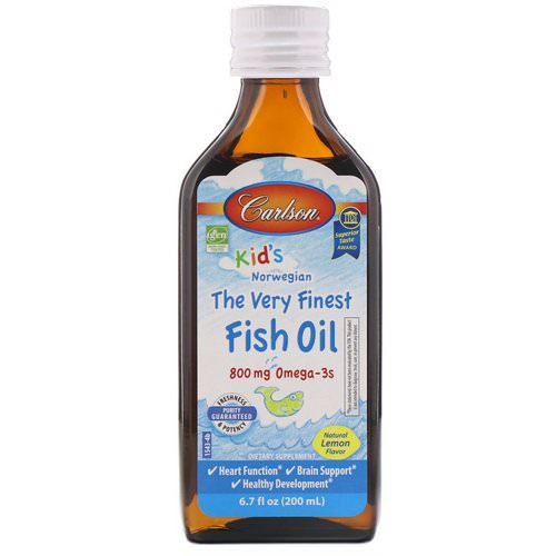 Carlson Labs, Kid's, Norwegian, The Very Finest Fish Oil, Natural Lemon Flavor, 6.7 fl oz (200 ml) Review