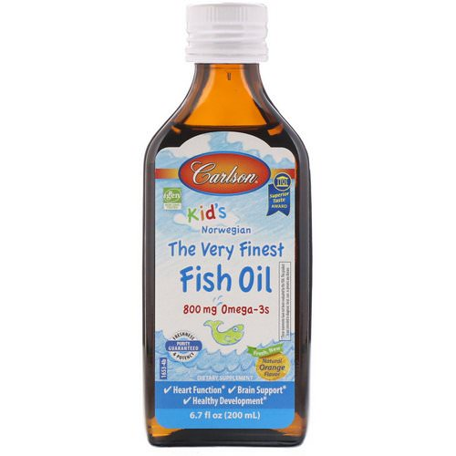 Carlson Labs, Kid's,Norwegian, The Very Finest Fish Oil, Natural Orange Flavor, 6.7 fl oz (200 ml) Review