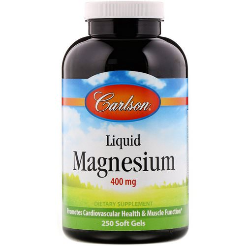 Carlson Labs, Liquid Magnesium, 400 mg, 250 Soft Gels Review