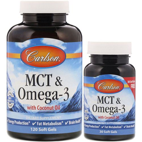 Carlson Labs, MCT & Omega-3, 120 + 30 Free Soft Gels Review
