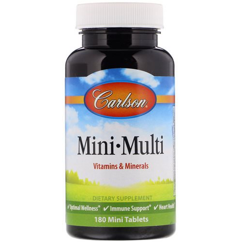 Carlson Labs, Mini-Multi, Vitamins & Minerals, Iron-Free, 180 Tablets Review