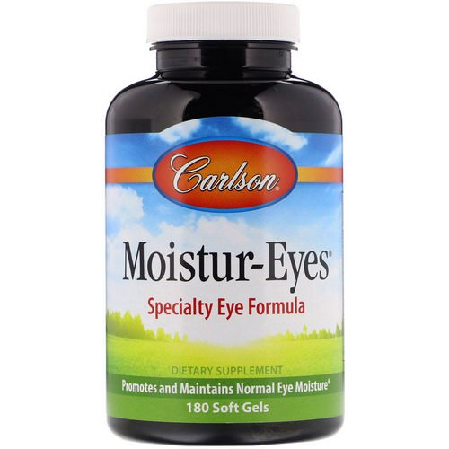 Carlson Labs, Moisture-Eyes, 180 Soft Gels Review