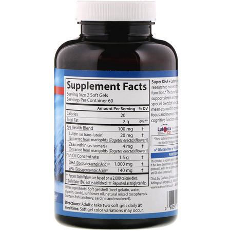 Memory Formulas, Cognitive, Healthy Lifestyles, DHA, Omegas EPA DHA, Fish Oil, Supplements
