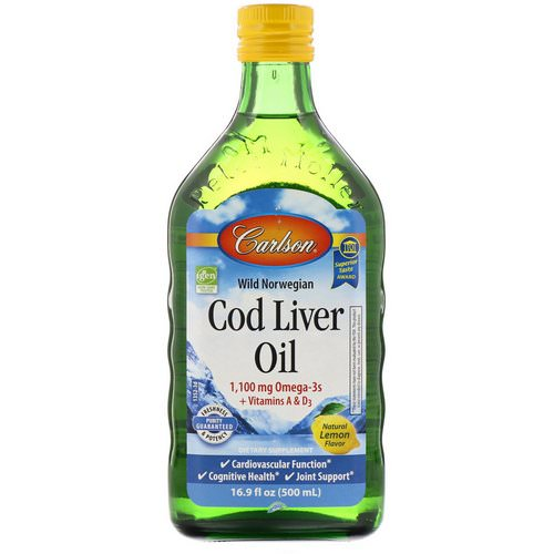 Carlson Labs, Wild Norwegian Cod Liver Oil, Natural Lemon Flavor, 16.9 fl oz (500 ml) Review