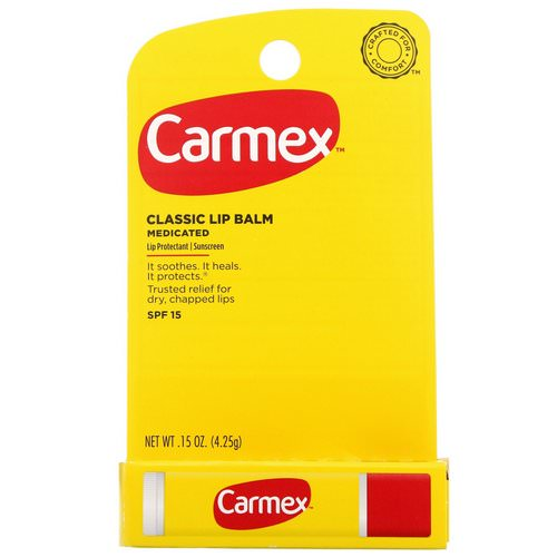 Carmex, Classic Lip Balm, Medicated, SPF 15, .15 oz (4.25 g) Review