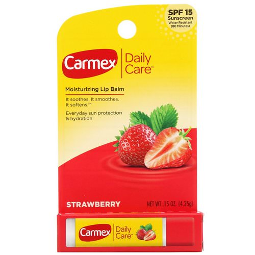 Carmex, Daily Care, Moisturizing Lip Balm, Strawberry, SPF 15, .15 oz (4.25 g) Review