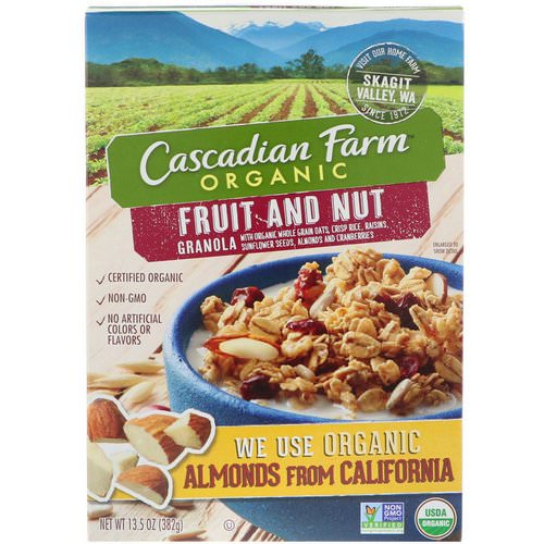 Cascadian Farm, Organic, Granola, Fruit and Nut, 13.5 oz (382 g) Review
