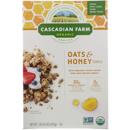 Cascadian Farm, Organic Oats & Honey Granola Cereal, 16 oz (453 g) Review
