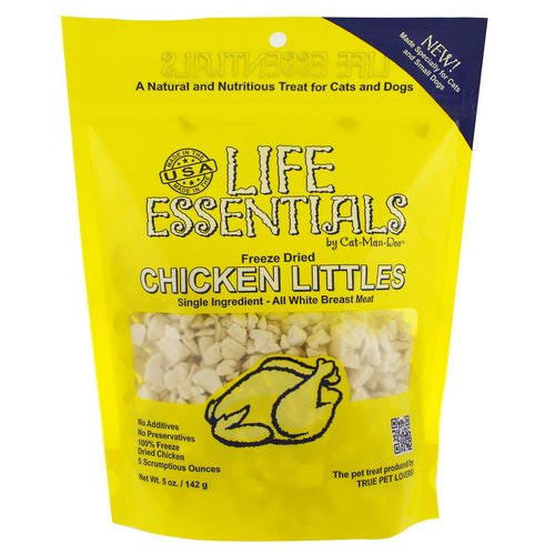 Cat-Man-Doo, Life Essentials, Freeze Dried Chicken Littles, For Cats & Dogs, 5 oz (142 g) Review