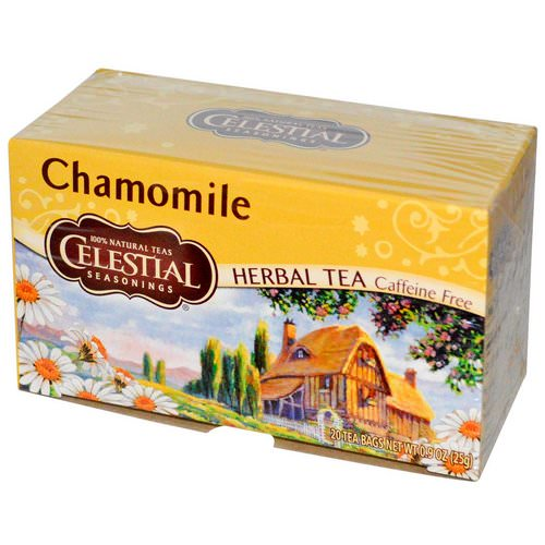 Celestial Seasonings, Herbal Tea, Caffeine Free, Chamomile, 20 Tea Bags, 0.9 oz (25 g) Review