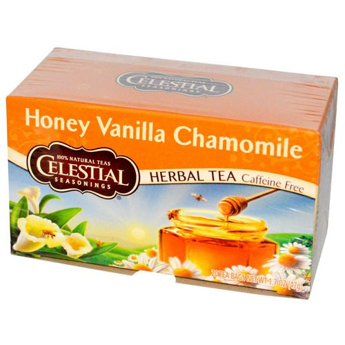 Celestial Seasonings, Herbal Tea, Caffeine Free, Honey Vanilla Chamomile, 20 Tea Bags, 1.7 oz (47 g) Review
