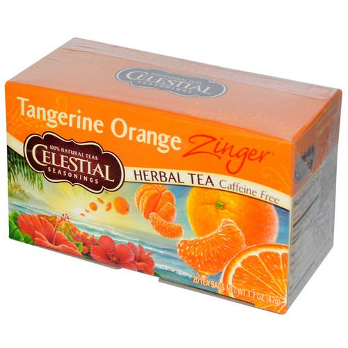Celestial Seasonings, Herbal Tea, Caffeine Free, Tangerine Orange Zinger, 20 Tea Bags, 1.7 oz (47 g) Review