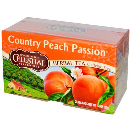 Celestial Seasonings, Herbal Tea, Country Peach Passion, Caffeine Free, 20 Tea Bags, 1.4 oz (41 g) Review