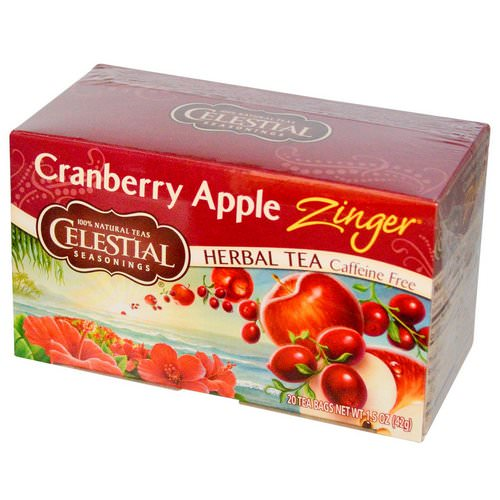 Celestial Seasonings, Herbal Tea, Cranberry Apple Zinger, Caffeine Free, 20 Tea Bags, 1.5 oz (42 g) Review