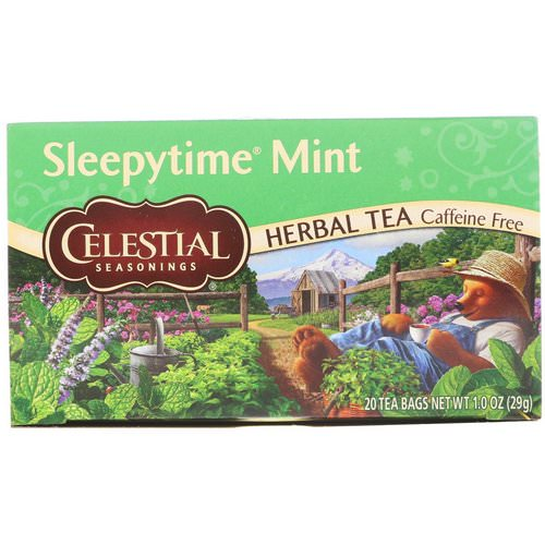 Celestial Seasonings, Herbal Tea, Sleepytime Mint, Caffeine Free, 20 Tea Bags, 1.0 oz (29 g) Review