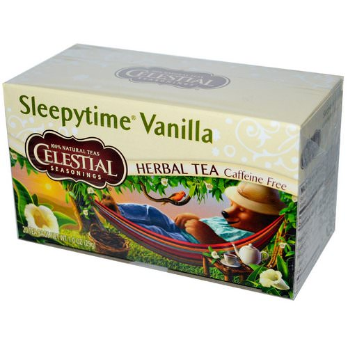 Celestial Seasonings, Herbal Tea, Sleepytime Vanilla, Caffeine Free, 20 Tea Bags, 1.0 oz (29 g) Review