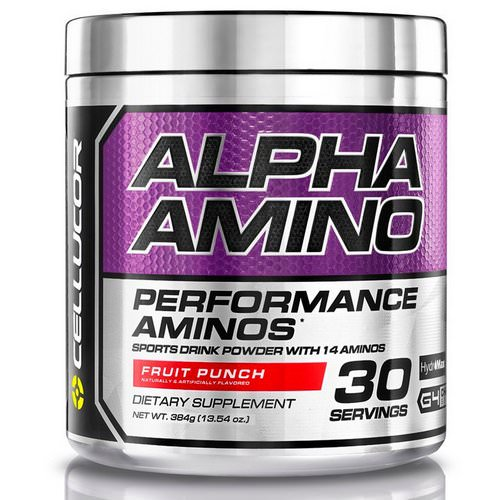 Cellucor, Alpha Amino, Performance BCAAs, Fruit Punch, 13.4 oz (381 g) Review