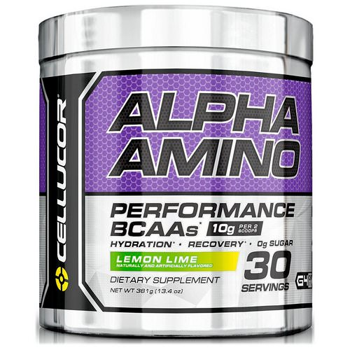 Cellucor, Alpha Amino. Performance BCAAs, Lemon Lime, 13.4 oz (381 g) Review