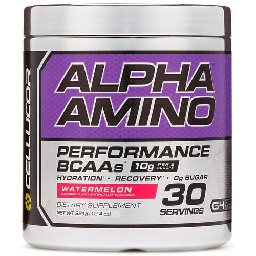 Cellucor, Alpha Amino, Performance BCAAs, Watermelon, 13.4 oz (381 g) Review