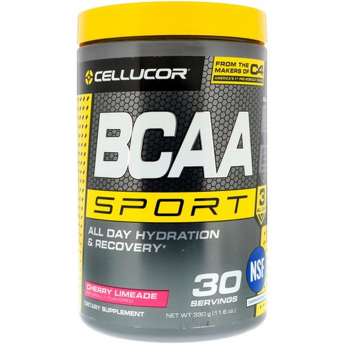 Cellucor, BCAA Sport, All Day Hydration & Recovery, Cherry Limeade, 11.6 oz (330 g) Review
