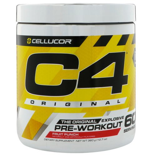 Cellucor, C4 Original Explosive, Pre-Workout, Fruit Punch, 12.7 oz (360 g) Review